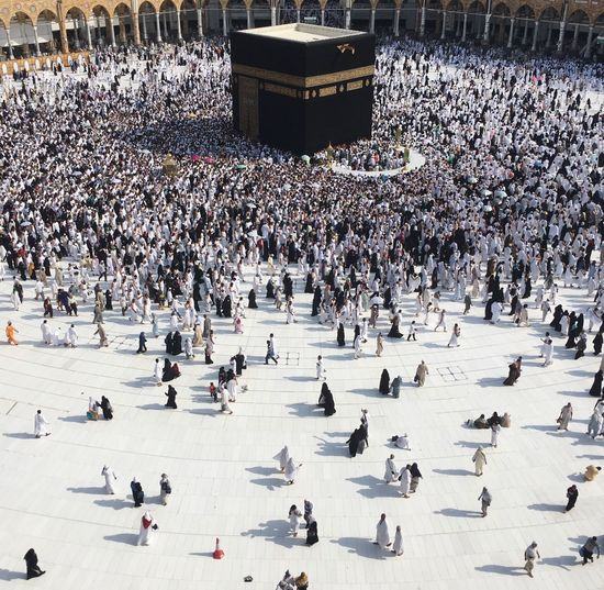 EyeEmNewHere Mecca Kaaba Muslim Religion Religion And Beliefs People Saudi Saudi Arabia Ramadhan High Angle View Large Group Of People EyeEmNewHere