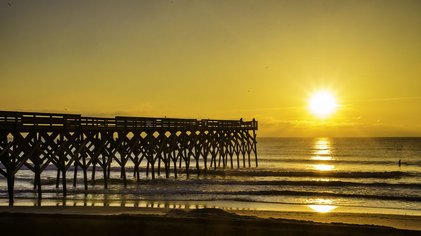 This Morning 2-05-18 sunrise at Crystal Pier Wrightsville Beach NC ... EyeAmNewHere Carolina Sunrise Nikond750 Sky And Clouds Surf Tamron28300 Tranquility Wrightsville Beach NC Beach Crystal Pier Day Nature Nikonusa No People Oceanic Outdoors Outdoors❤ Portcity Sky Skyporn Sunrise Sunrise_sunsets_aroundworld Surfers Tamronusa Water EyeEmNewHere