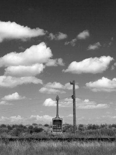 Electric Railroad Atmosphere Atmospheric Mood Cloud Cloud - Sky Desert Scrub Dramatic Sky High Plains No People Railroad Railroad Tracks Railway Sky