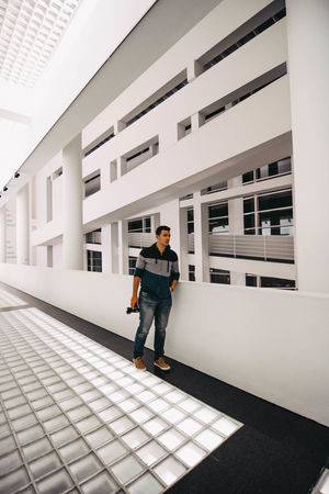 //MACBA. White Background Structures & Lines Structure Macba  Museum MACBA MUSEUM Colour Your Horizn One Man Only Full Length Only Men Adult One Person Adults Only Men Architecture Business Finance And Industry Portrait Modern Stories From The City