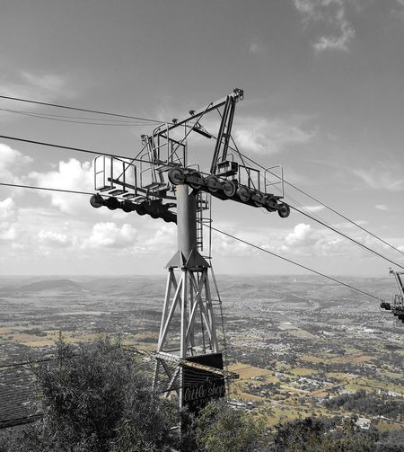 Technology Electricity  Sky No People Outdoors Cloud - Sky Connection Taken From Smartphone Camera Cable Car Cable Low Angle View Landscapes Black & White Technology Everywhere Veiw Veiws