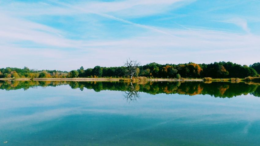 Reflection Water Nature Lake Tree Blue Travel Landscape Symmetry Sky Outdoors Hungary