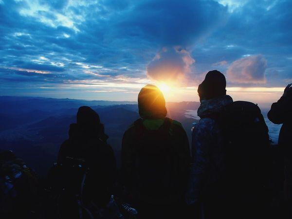 富士山 日の出 山頂 Mount FuJi The Mountaintop The Sunrise Japan