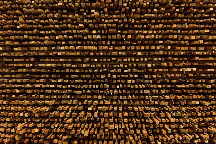 Full frame shot of wood stack