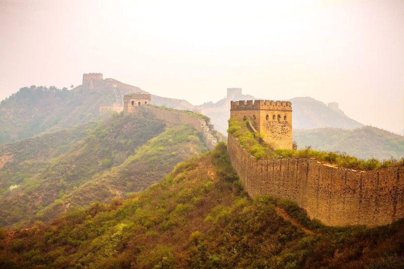 Great Wall Of China Architecture Built Structure Nature Fort Travel Destinations Mountain Sky History Wall Ancient Ancient Civilization Building Exterior The Past Tourism Travel Fortified Wall Old Old Ruin Scenics - Nature No People