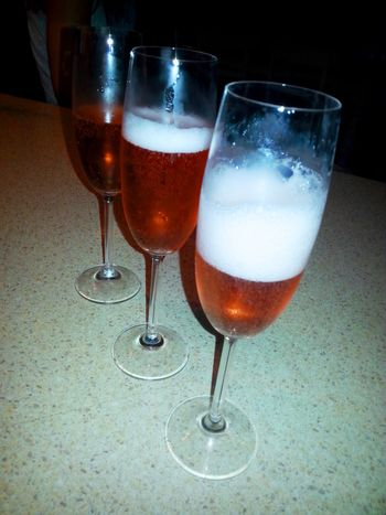 18th Birthday Alcohol Celebration Champagne Champagne Flute Champagne Glasses Close-up Day Drink Drinking Glass Food And Drink Freshness Indoors  No People Pink Champagne Refreshment Wine Wineglass