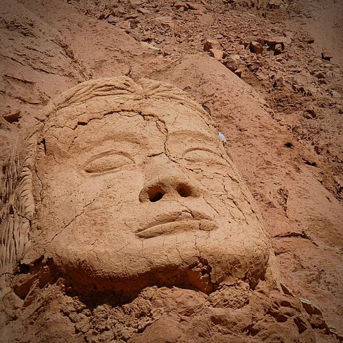 Desert Art Sculture Face Acient Closeupshot No People Outdoors Clay Arcilla Colors Deserts Around The World Close-up Nice Clay Sculpture Human Face Human Body Part Clayart Claysculpture Scultpure Artistic Expression Arte Acient Sculture Acient Beauty Desert Landscape