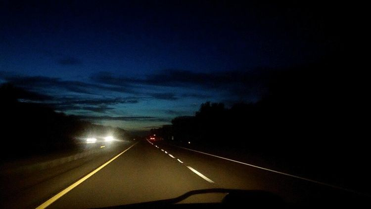 Ontheroad Itswhatido Beauty In Nature Scenics Family Time Familylife Love To Take Photos ❤ Outdoors Nature Tranquility Natural Light Portrait Motion Car Point Of View Car Speed Road Uship Ushipper Nightphotography Night Lights Nightdriving Sunset