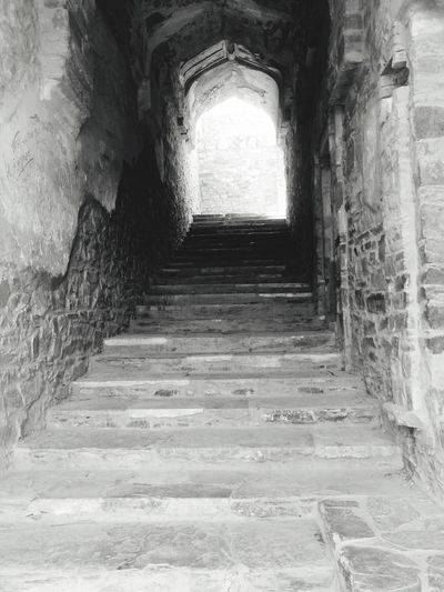 Haunted fortstairs... bhangarh History Architecture The Way Forward Low Angle View Ancient Steps No People