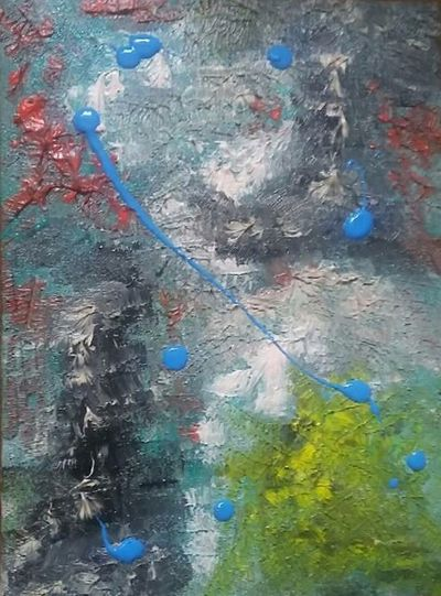 Abstract My Friends Painting Multi Colored Full Frame Backgrounds Textured  No People Close-up Painting Original Paintings