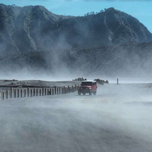 Through the whispering sands Road Landscape Bromo Mountain Indonesia Bromo Tengger Semeru National Park Jeep Whispering Sands Beauty In Nature Wanderlust Amazing View Mountain Range Travel Destinations Travel Photography Travellife Wonderful Day