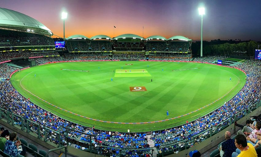 Adelaide Oval Cricket Field Adelaide Cricket! Group Of People Crowd Built Structure Architecture Large Group Of People Green Color Match - Sport Team Sport Grass First Eyeem Photo