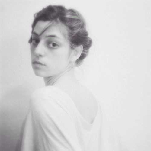 Look back Noir Et Blanc Autoportrait