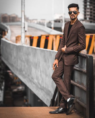 Portrait of a businessman Young Adult One Person Only Men City Adults Only Men Portrait Lifestyles Full Length One Man Only Adult Outdoors People Day