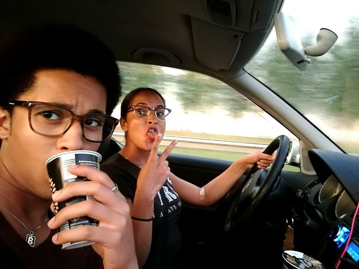 Two People Car Car Interior Eyeglasses  Women Driving People Togetherness The Drive The Drive. Motion Driving Road Cruising Movement Me And My Sister