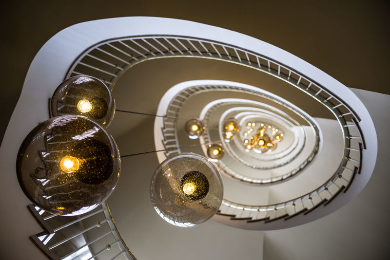 The staircase at an office building on Berlins prestiguous Kurfürstendamm. Architecture Architecture_collection Bokehlicious Kudamm Lights Snail Stairs Architecturelovers Bokeh Bokeh Photography Bottomview Building Circular Circular Pattern Circular Stairway Kurfürstendamm Lamps Looking Up Office Building Round Round Shape Staircase Stairs_collection stairways EyeEmNewHere
