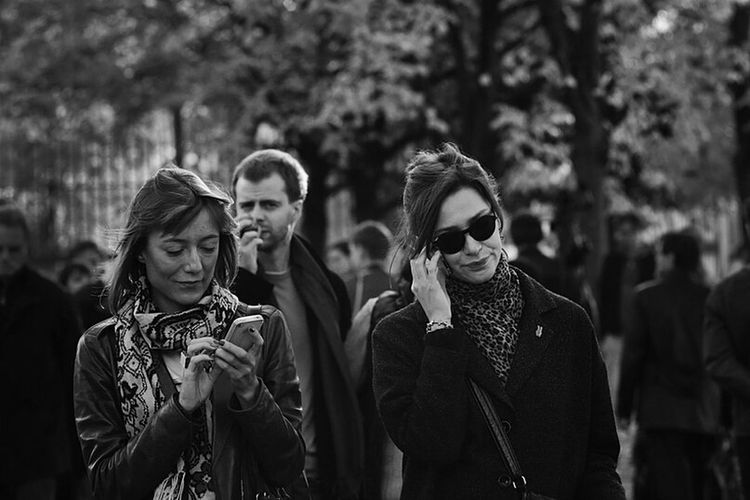 People Black And White Women Moscow Man