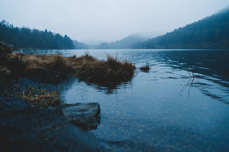 Shallow mountain lake