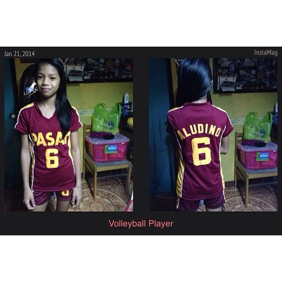 """Representative for TPAEZ and competing for NCR's """"Palaro 2014"""" i love you from kuya ! Haha power cheer ! XD good luck ! Player NCR Volleyball Goodluck jersey cute kid pasay InstaMag-MobileApp @fotorus_official"""