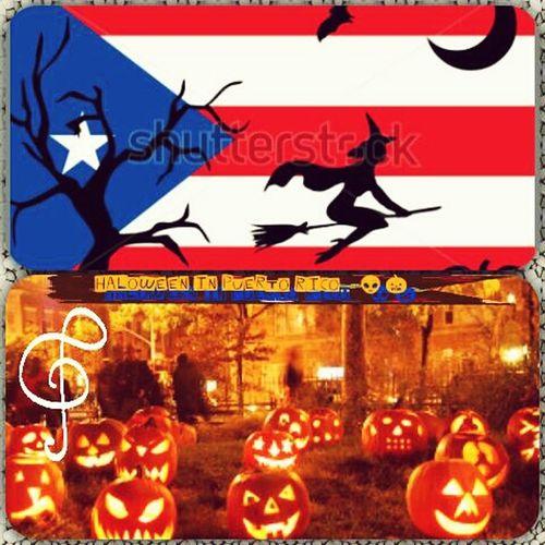 Halloween in Puertorico Halloween 👽🎃✌