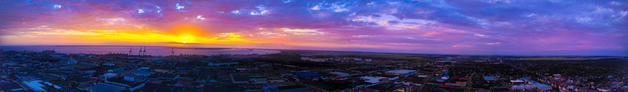 Sunset panorama picture over Beira Sunset Cityscape Cloud - Sky Panoramic