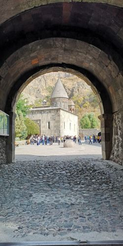 Geghard Monastery in Armenia Monastery Monastery Of The Spear Church UNESCO World Heritage Site Medieval Monastery Ancient Geghard Monastery Armenia City Architecture Historic Ancient Civilization Archaeology Ancient History The Past Old Ruin Civilization