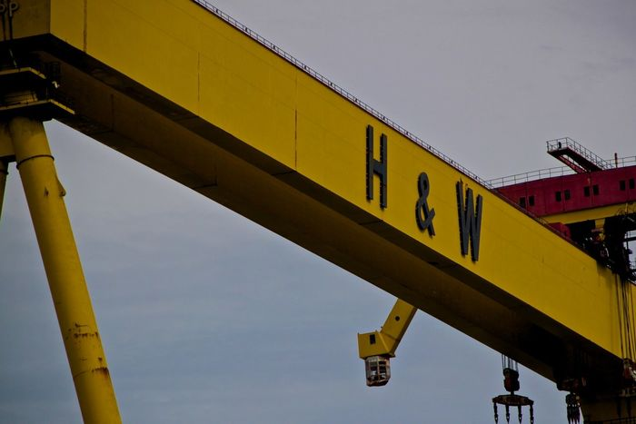 Samson and Goliath, H&W Shipyard Architecture Building Building Exterior Crane Goliath Harland&Wolff Industry Samson Ship Yellow