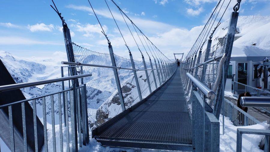 City Snow Cold Temperature Winter Bridge - Man Made Structure Sky Cloud - Sky Architecture