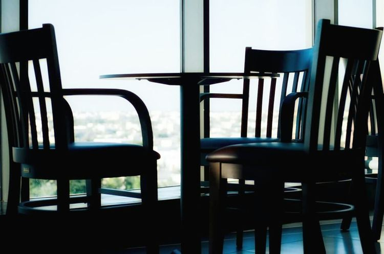 Chairs And A Table Empty Chair Cafeteria Quite Lovely Somewhere Someplace Needabreak Itsaboutthejourney Silent Place