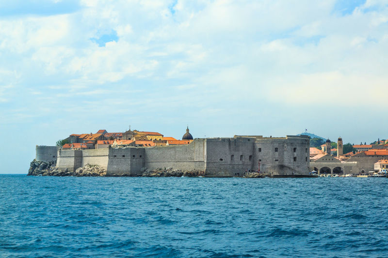 Sailing in Adriatic Sea near Dubrovnik, Croatia Adriatic Adriatic Sea Architecture Beautiful City Walls Crotia Dubrovnik Medieval Town Nature Old Town Panorama Tourism Travel Unesco UNESCO World Heritage Site