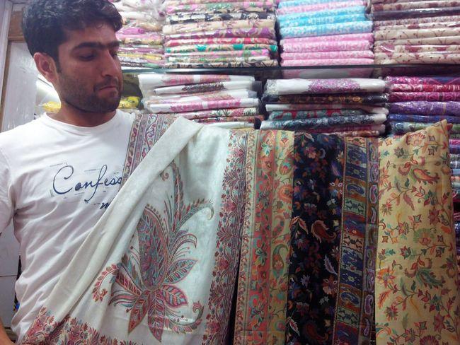 Kashmiri shawls EyeEmNewHere EyeEm Diversity Kashmiri Shawls Cloth Multi Colored Fashion Retail  Choice Variation Store One Person