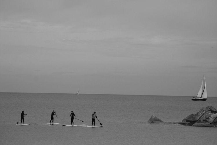 Tres Y Cuatro EyeEm Bnw Bnw_collection Blackandwhite Eye4black&white  On The Beach