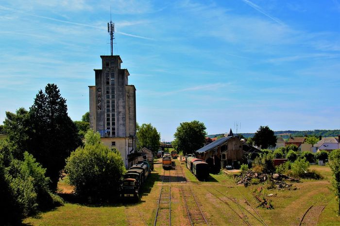 Normandie Normandie, France Old Train Station Architecture Building Exterior Built Structure Grass History No People Old Train Outdoors Sky Tree