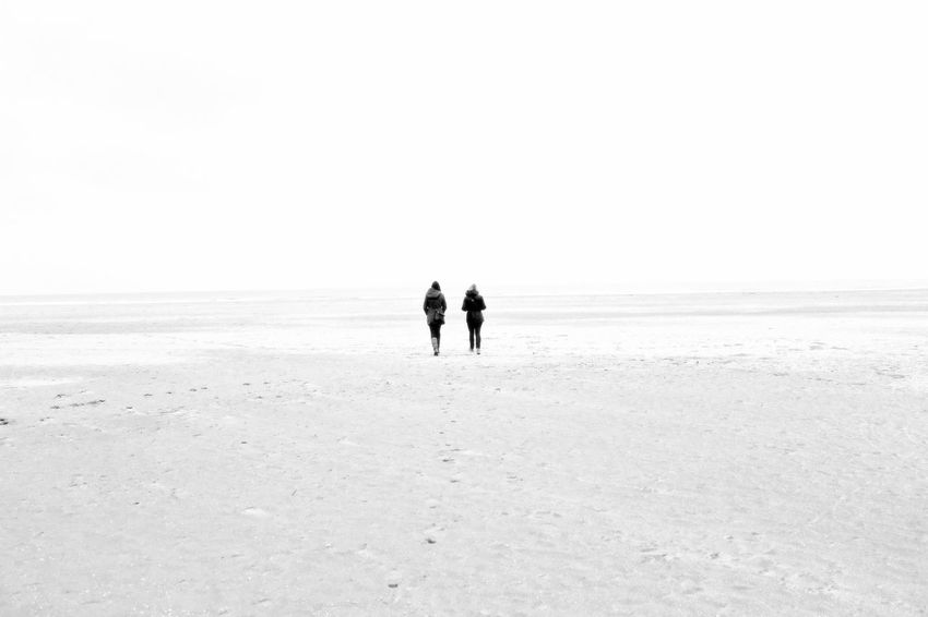 One day, I saw 2 persons far away ... Beach Beauty In Nature Black And White Blackandwhite Photography Brume Calm Ciel Clear Sky Coastline Foggy Weather Full Length Horizon Over Water Mer Nature Non-urban Scene Normandie Ocean Outdoors Sable Sand Sea Silhouette Sky Tranquility Water