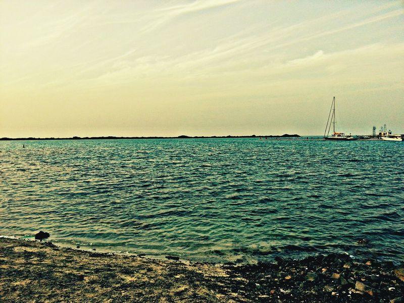 جدة بحر الجنوبي نافورة جدة جو جميل شاطئ ♥من تصويري♥ ☺makkah Smile Good Night Sea And Sky