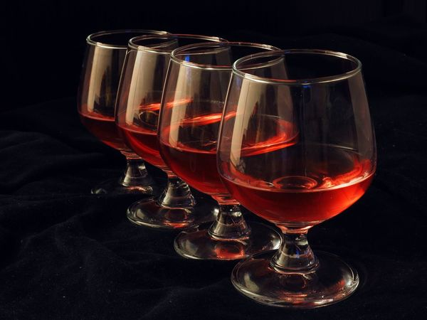 Queued glasses. Alcohol Arrangement Close-up Composition Drink Drinking Glass Focus On Foreground Glass Glass - Material Indoors  Preparation  Qualified Quality Queue Queued Queueing Red Shiny Still Life Table Temptation Wine Wineglass