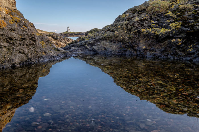 ELIE Firth Of Forth Lighthouse Nature Outdoors Reflection Rock Pool Rocks Schottland Sea Shore Sky Water