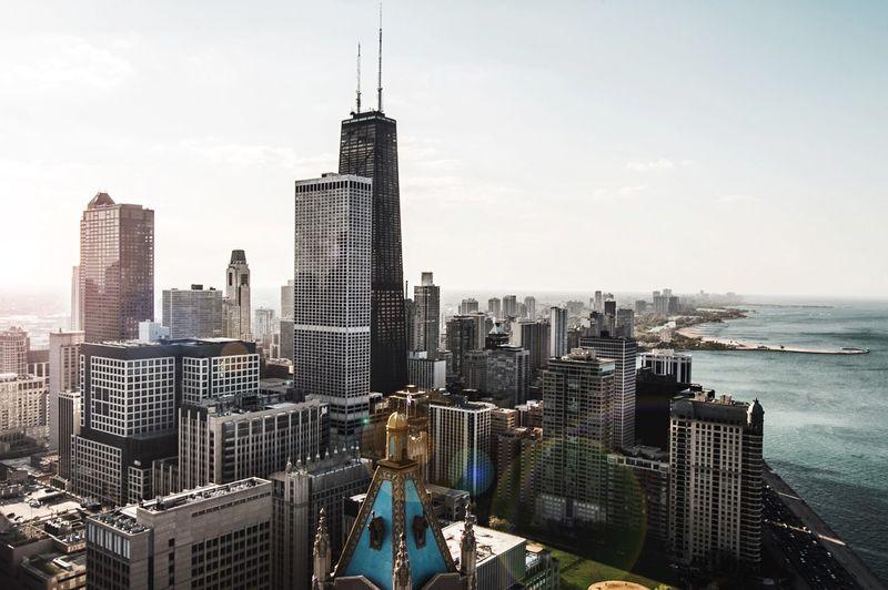 Modern cityscape against sky
