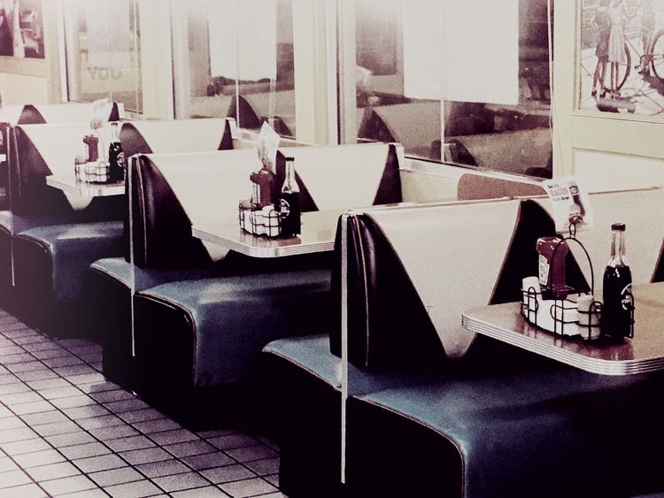 Retro. Picoftheday IPhoneography Summer Retro Style Restaurant AandW Booth Roadfood Kentucky  1950s Thesouth