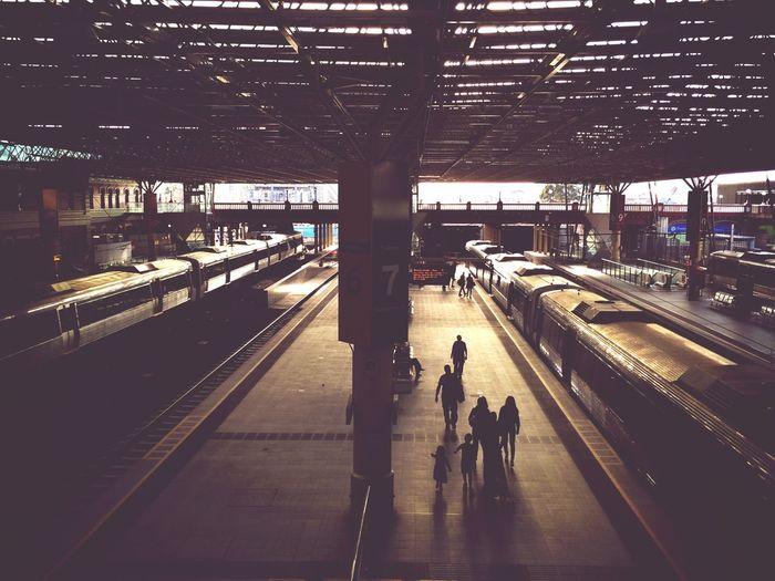 Commuters on platform 7 of Perth Railway Station Public Transportation Train Station Traveling