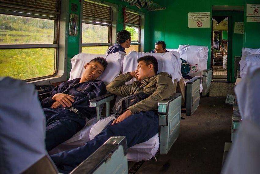 The 4am from Mandalay to Hsipaw, Myanmar. On The Way Myanmar Rail Travel Burma Nikon Nikonphotography Asleep