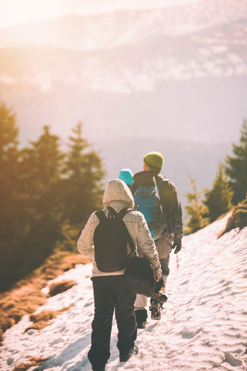Adventure Freedom Happiness Hiking Hiking Landscape Leisure Activity Life Men Mountain Nature Nature Nature_collection People People And Places People Of EyeEm Rear View Togetherness Tranquility Travel Travel Destinations Vacations Walking Around Winter Winter