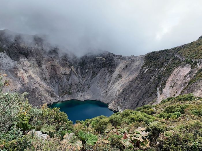 Irazú Volcano Lagoon Crater Volcano Water Sky Mountain Cloud - Sky Tranquil Scene Nature No People First Eyeem Photo