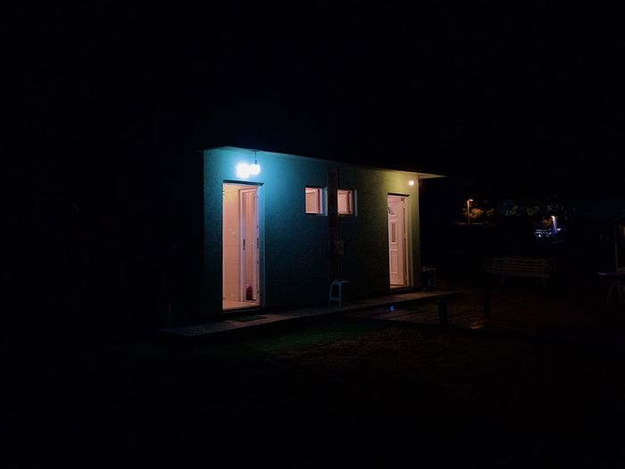 Illuminated Night Dark Indoors  Copy Space Architecture Real People