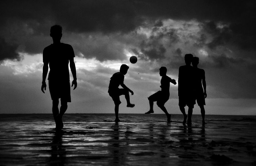 """Everyday Football"" - Streetphoto_bw Blackandwhite Black & White I'm Lost In Paradise My Black & White Photography"