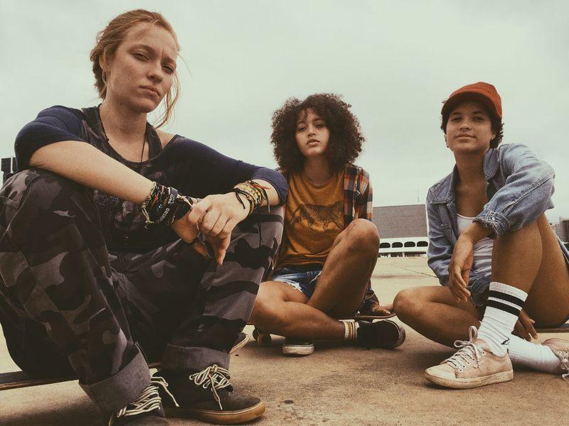 True Grit Fashion Streetphotography True Style Urban Friendship Youth Girlhood Skateboard Skateboarding Sitting Leisure Activity Lifestyles Young Adult Casual Clothing First Eyeem Photo EyeEmNewHere EyeEmNewHere
