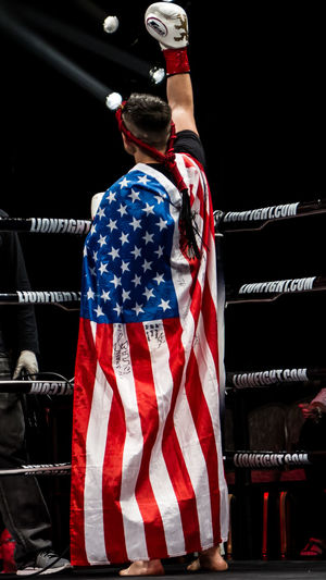 American Flag Champ Fight Fighter Foxwoods Casino Kickboxing Lion Fight Martial Arts Mauy Tha Proud Ring First Eyeem Photo