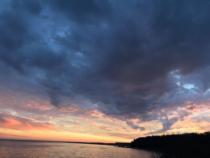 Sunset Sky Tranquil Scene Cloud - Sky Scenics Sea Beauty In Nature Tranquility Dramatic Sky Nature Water Horizon Over Water Outdoors No People Beach Tree Day