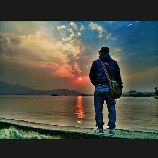 UdprAmrai Lake Ghaat Dec oldpicsunsetwithjesh