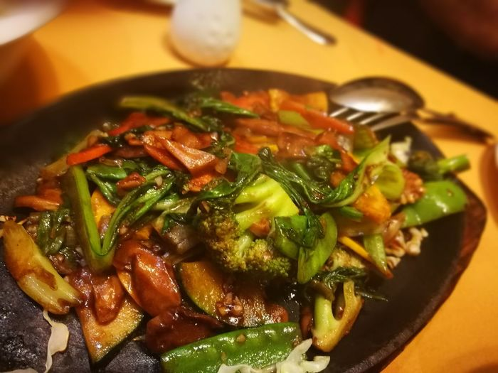Chinese Food Dinner Food Food And Drink Food Photography Freshness Golden Dragon Dubai Sizzler Sizzlers Temptation Vegetarian Food